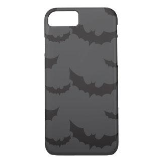 Black bats on dark grey background Halloween iPhone 7 Case