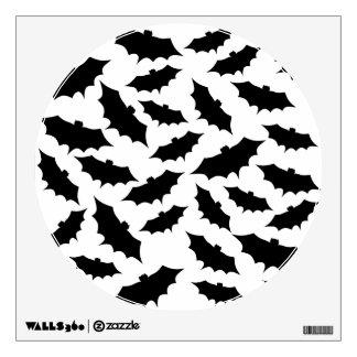 Black Bats Pattern. Wall Decal
