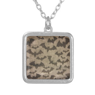 Black Bats Silver Plated Necklace