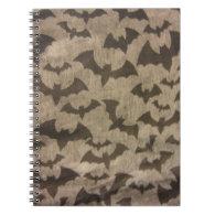 Black Bats Spiral Notebook