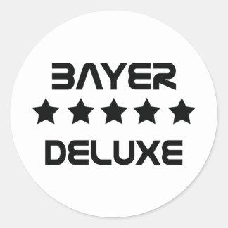 black bayer deluxe icon round sticker