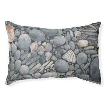 Beach Themed Black Beach Rocks Pebbles Stones Pet Bed