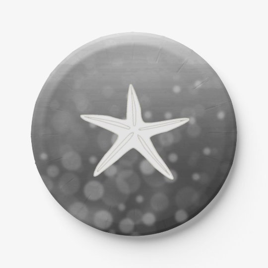 Black Beach Themed Starfish Paper Plates  sc 1 st  Zazzle : paper plate starfish - pezcame.com