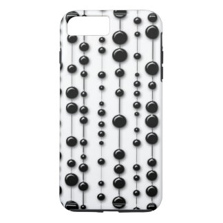 Black Beaded Strands 60s Mod Modern Contemporary iPhone 8 Plus/7 Plus Case