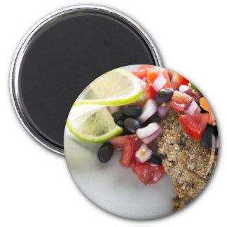 Black Bean Salsa Veggie Burger Magnet