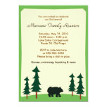 BLACK BEAR Adirondack Lodge 5x7 Party Invitation