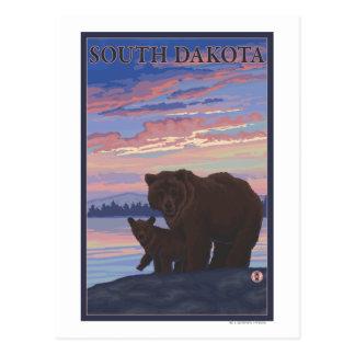 Black Bear and CubSouth Dakota Postcard