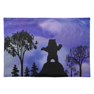 Black bear and the moon placemat