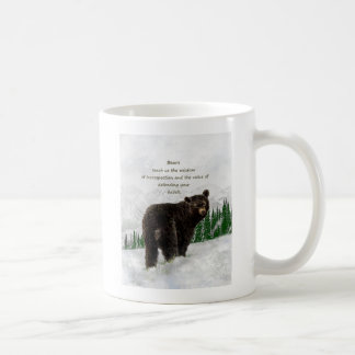 Black Bear Animal totem Inspirational Spirit Guide Coffee Mug