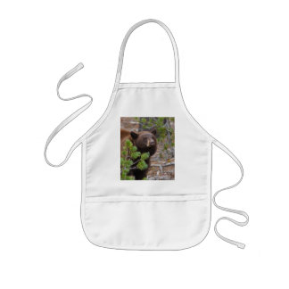 black bear kids' apron