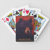 Black Bear Art Playing Cards