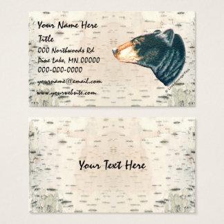 Black Bear Birchbark Business Card