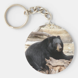 """Black Bear"" by Carter L. Shepard"" Keychain"