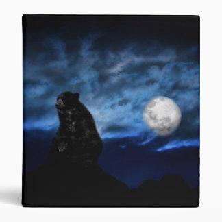 Black bear by moonlight binder