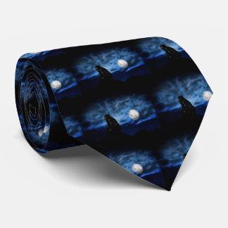 Black bear by moonlight neck tie