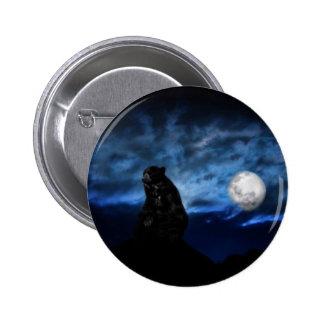 Black bear by moonlight pinback button