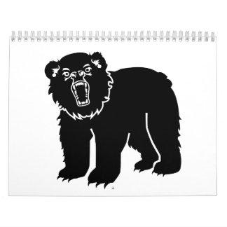 Black bear calendar