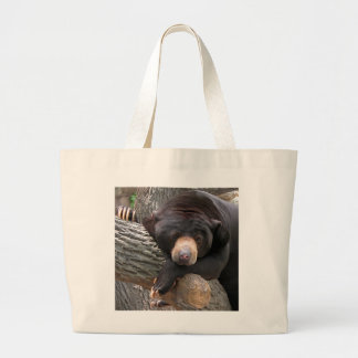 Black Bear Canvas Bag