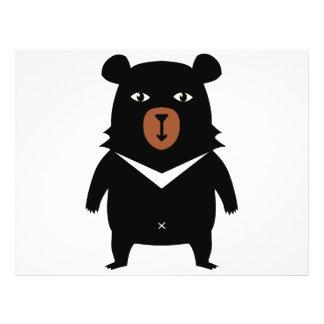 Black bear cartoon flyer