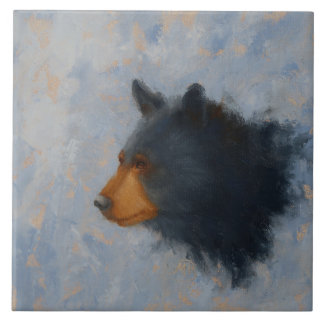 Black Bear Ceramic Trivet