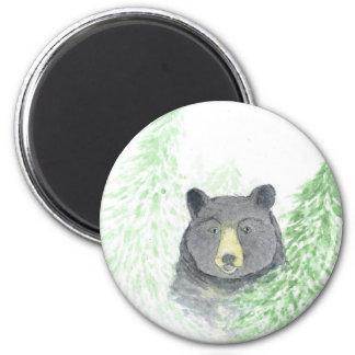 Black Bear Christmas Fridge Magnets