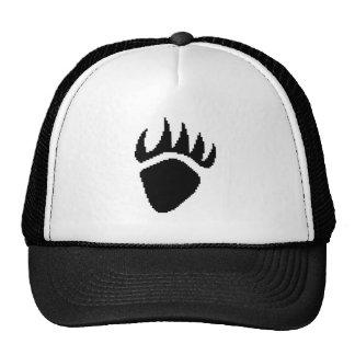 Black Bear Claw Pixel Trucker Hat