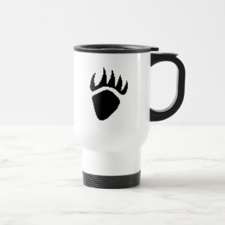 Black Bear Claw Pixel Travel Mug