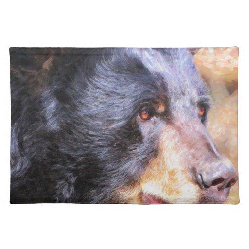 Black Bear closeup3 Placemats