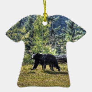 Black Bear Crossing A Ranch Pasture Ornaments