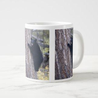 black bear cub large coffee mug