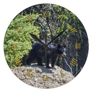 Black Bear Cub & Mud Hill Wildlife Photo Clock