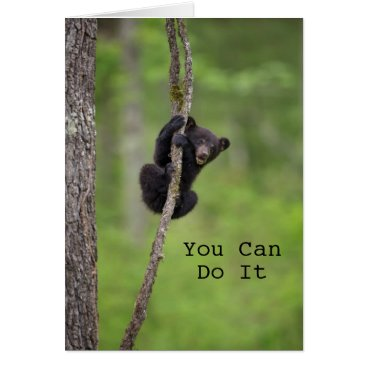 USA Themed Black bear cub playing, Tennessee Card