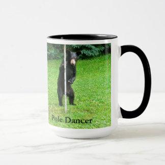 Black Bear Cub Pole Dancer Coffee Mug