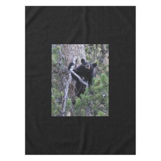 black bear cub tablecloth
