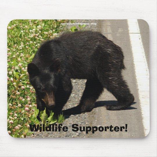 Black Bear Cub Wildlife Supporter Mousepad