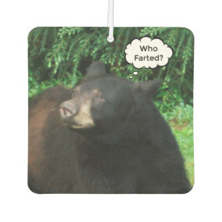 "Black Bear - ""Cubby Who Farted?"" Car Air Freshener"
