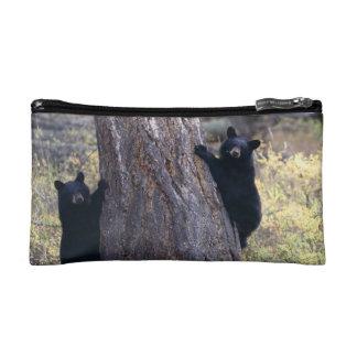 black bear cubs makeup bag