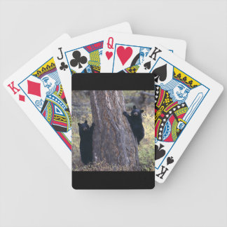black bear cubs bicycle playing cards