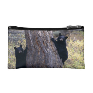 black bear cubs cosmetic bag