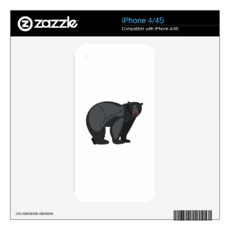 Black Bear Decal For The iPhone 4