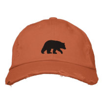 Black Bear Embroidered Baseball Cap