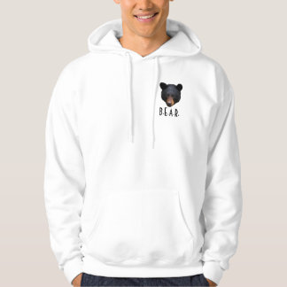 Black Bear Faces Wildlife-Supporter Hoodie