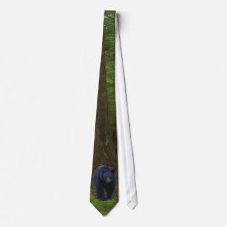 Black Bear & Forest Wildlife Earth Day Necktie