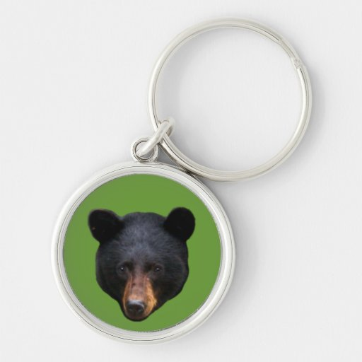 BLACK BEAR Head Wildlife Lover Luggage Tag Keychain