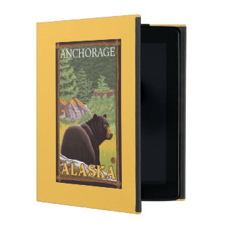 Black Bear in Forest - Anchorage, Alaska iPad Cases
