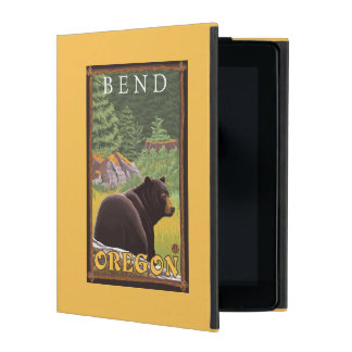 Black Bear in Forest - Bend, Oregon iPad Case