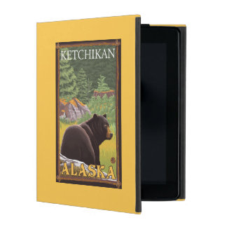 Black Bear in Forest - Ketchikan, Alaska iPad Cover