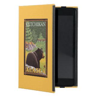 Black Bear in Forest - Ketchikan, Alaska iPad Mini Cover