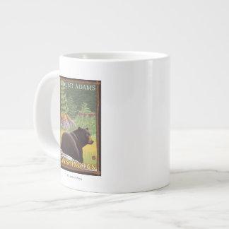 Black Bear in Forest - Mount Adams, Washington Giant Coffee Mug