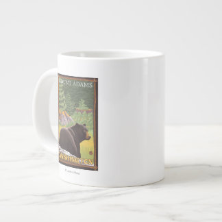 Black Bear in Forest - Mount Adams, Washington Large Coffee Mug